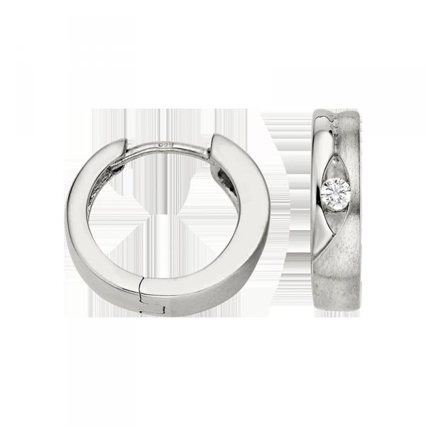 Creole in 925´er Sterling Silber mit einem Zirkonia Stein und einer ausgezeichnetem Design