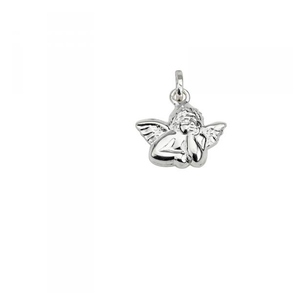 Taufanhänger in 925´er Sterling Silber in Engel Form mit Flügeln