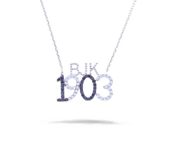 925`er Silber Halskette mit Besiktas Anhänger