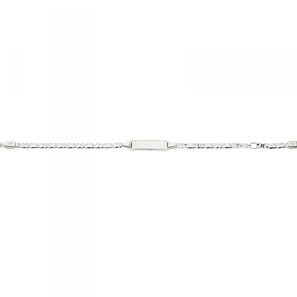 ID Armband in 925´er Sterling Silber mit Fantasie Kettenmuster Design