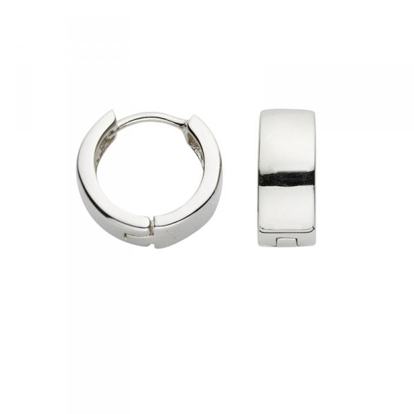 Creole in 925´er Sterling Silber ohne Steine in schlichtem Design