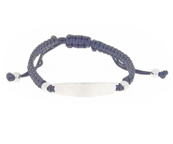 Identitätsarmband Armband mit Gravurplatte in schwarzer Farbe