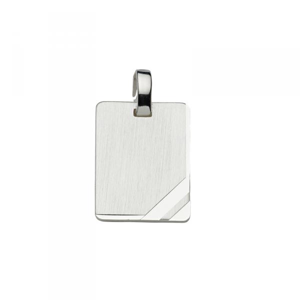 Gravurplatte in 925´er Sterling Silber mit schlichtem Design