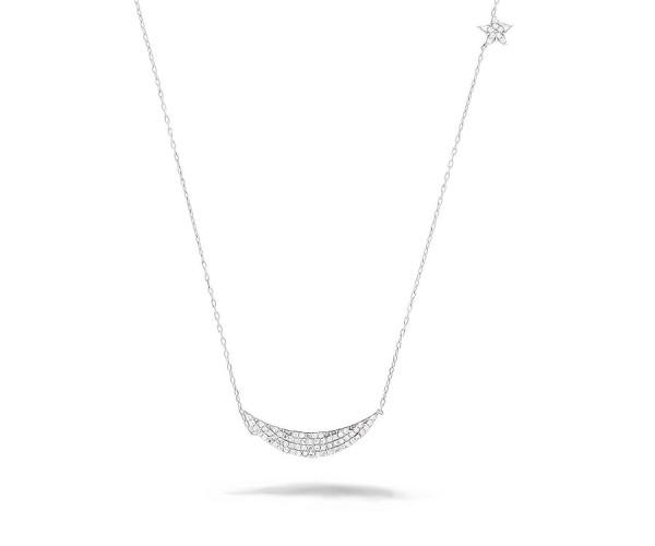 Halbmond und Stern Halskette 925'er Silber