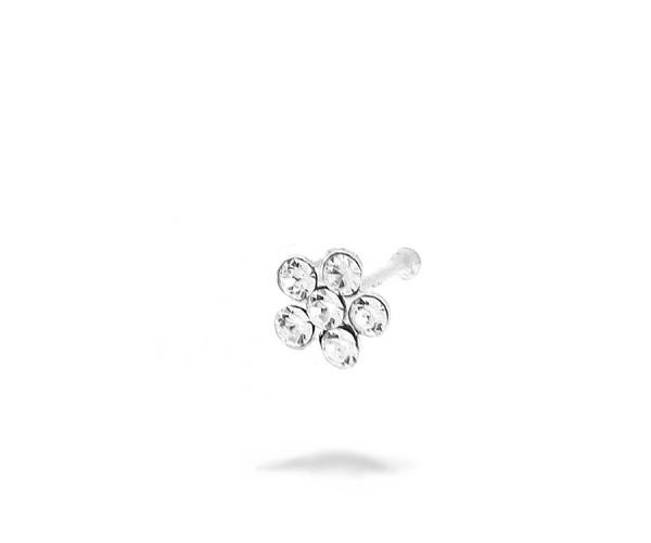 Nasenpiercing Blume aus 925er Silber 70001
