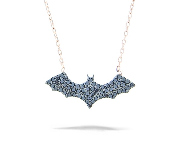 Halskette mit Anhänger Batman 925'er Silber rosê