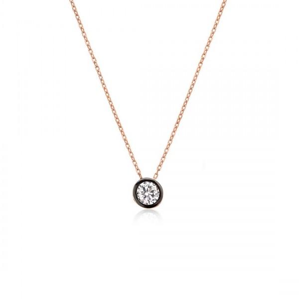 925´er Silber Halskette rose vergoldet