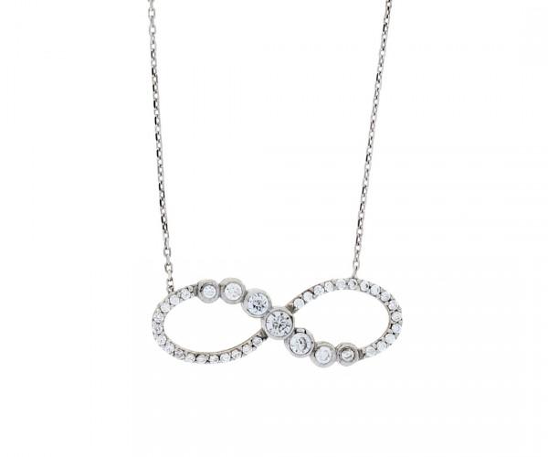 Halskette mit Anhänger infinity 50133