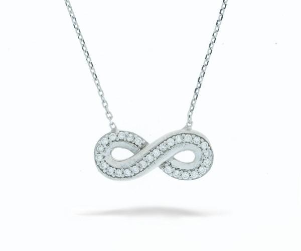 Halskette infinity mit Stein