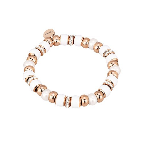 Damenarmband mit Zirkonia Steinen und Perlen