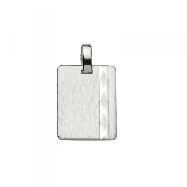 Gravurplatte in 925´er Sterling Silber mit einem Muster Streifen