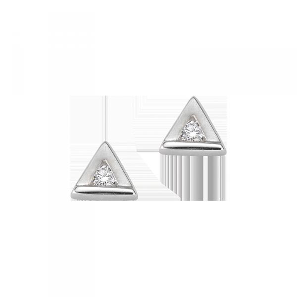 Ohrstecker in 925´er Sterling Silber in Dreick Form und einem Kern aus Zirkonia