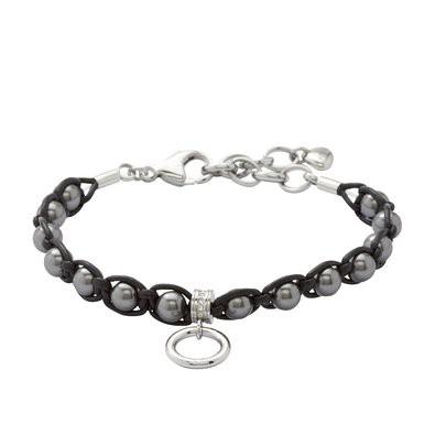 Fossil Damenarmband mit grauen Perlen JF86683040 20094