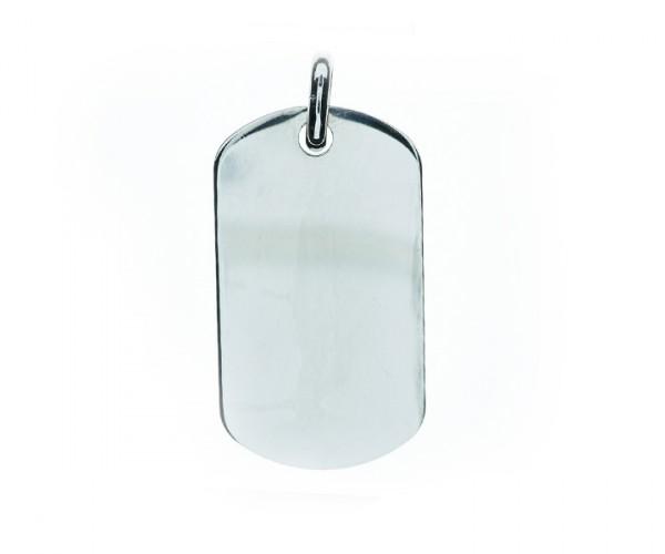 Militäranhänger in Silber 30111