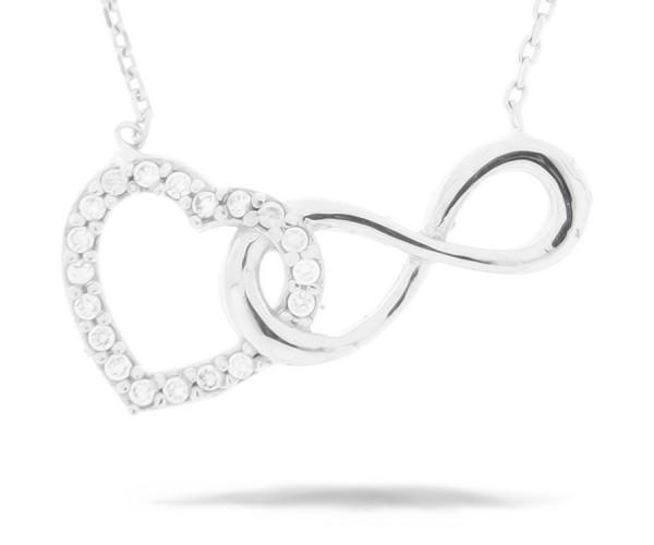 Halskette Herz mit infinity