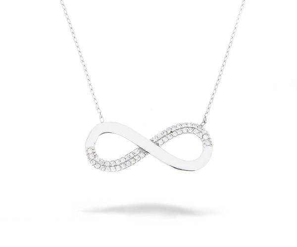 Halskette Unendlich/Infinity 925'er Silber