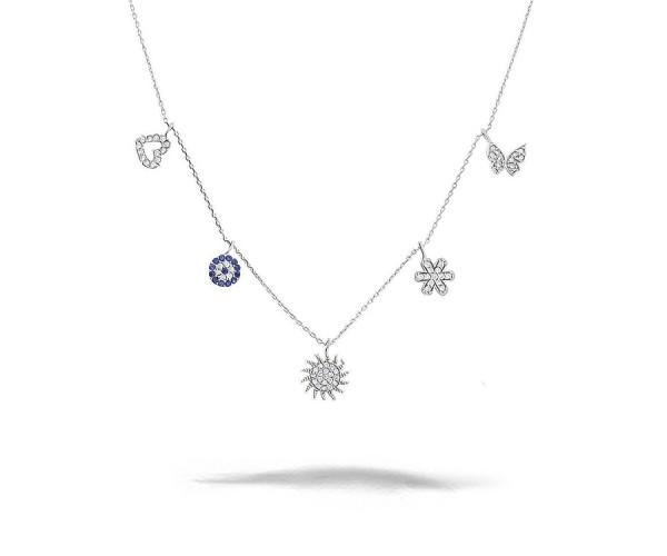 925er Silber Charmskette