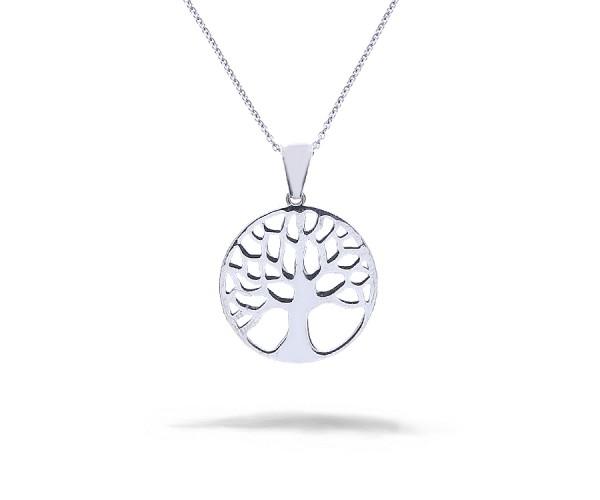 Baum des Lebens Halskette mit Anhänger 925'er Silber