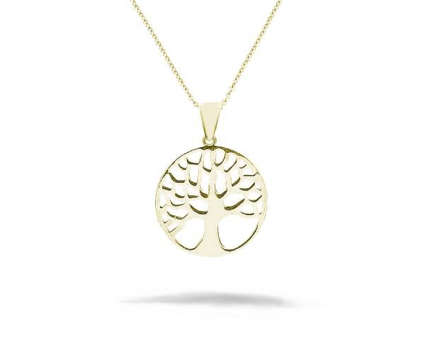 Baum des Lebens Halskette mit Anhänger 925'er Silber rosé