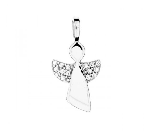 Engel Silberanhänger mit Stein 30043