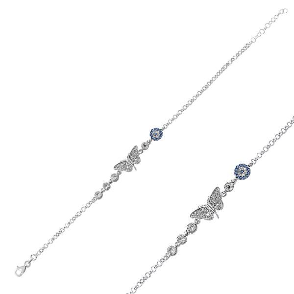 Damen Armband in 925´er Silber mit Schmetterling