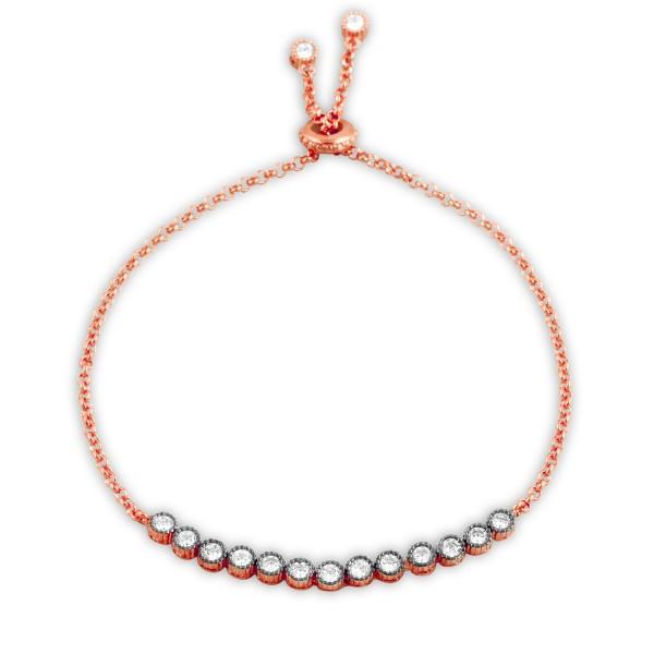 Damen Armband in rosé vergoldet mit Steinen