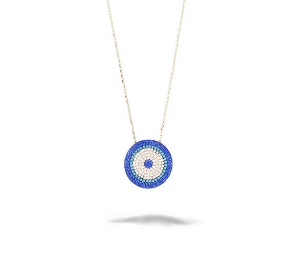 Halskette mit Anhänger 925'er Silber Nazar
