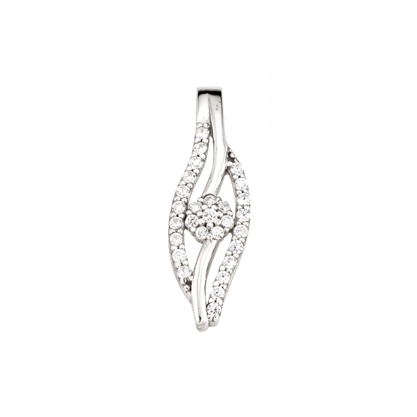 Anhänger in 925´er Sterling Silber in sehr schöner dezenter Form
