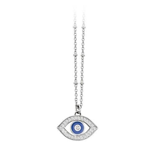 Halskette mit Anhänger Auge