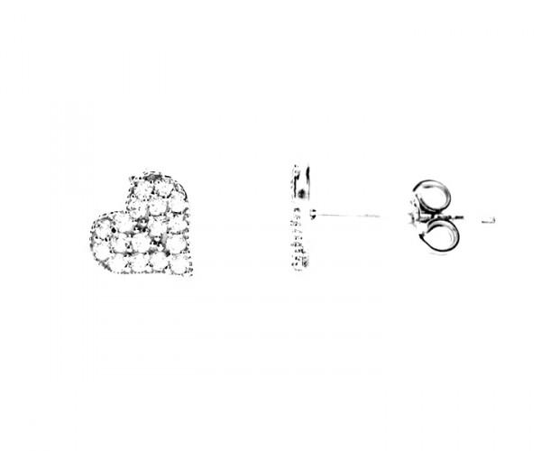 Ohrstecker Herz mit Zirkonia 40092 a