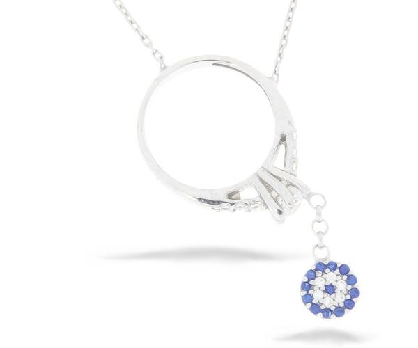 Halskette Ring Nazar Armulett 925`er Sterling Silber