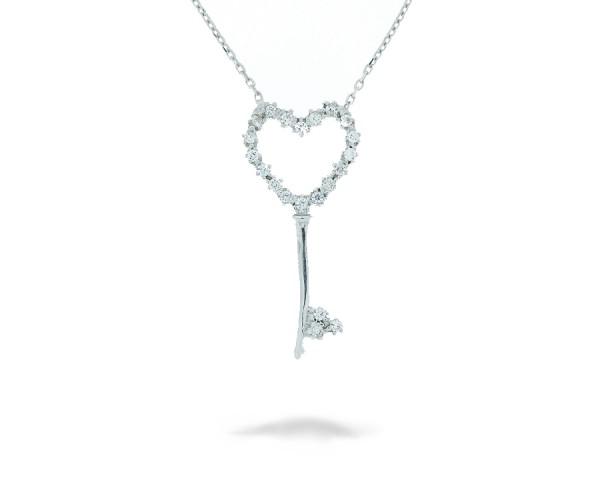 Halskette Schlüssel mit Stein