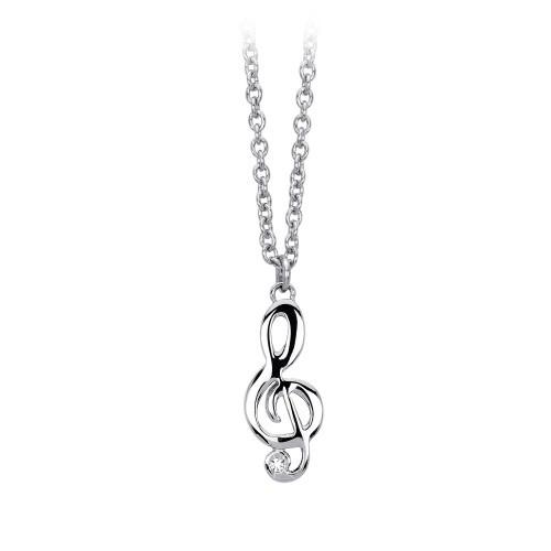 Halskette mit Anhänger Musiknote