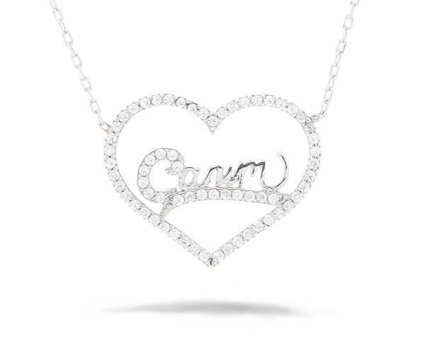 Herz Canim Halskette 925'er Silber