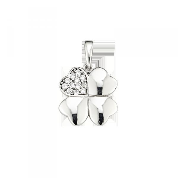 Anhänger in 925 er Sterling Silber in Kleeblatt Form