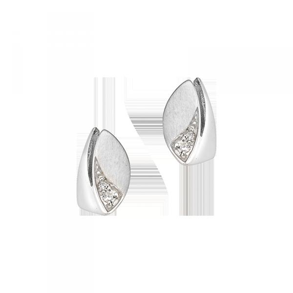 Ohrstecker in 925´er Sterling Silber mit einem Zirkonia Stein