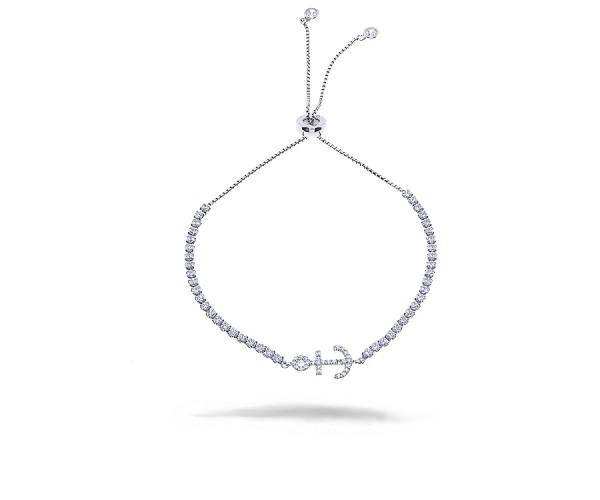 CEM Armband aus 925er Silber rhodiniert mit Zirkonia Steinen