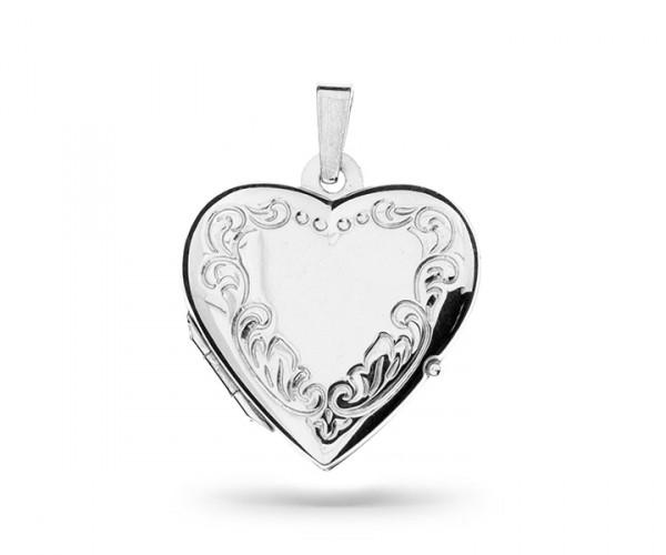 Herz Silber Medaillon 30067