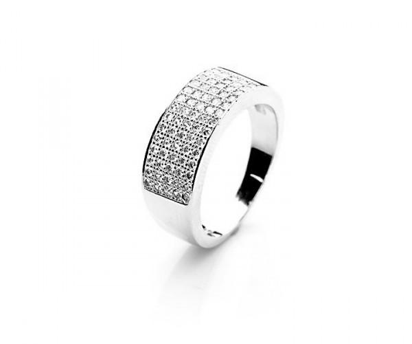 Wunderschöner Silberring mit Zirkoniasteinen 10055