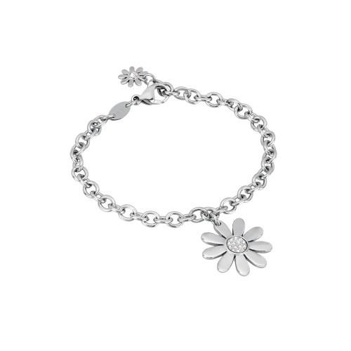 Damenarmband Blume mit Zirkonia Steinen