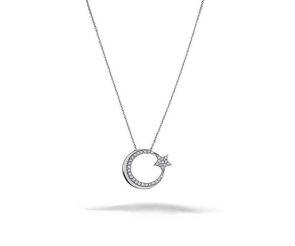 Halskette mit Türkei Anhänger in Silber