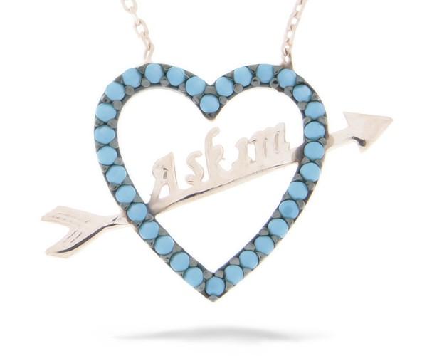 Halskette in 925´er Herz Askim Rosé