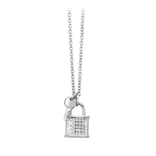 Halskette mit Anhänger Schloss/Schlüssel