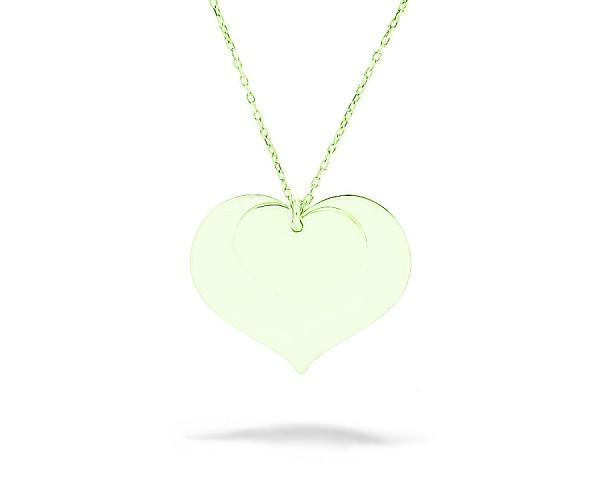 Halskette vergoldet Herz 925'er Silber