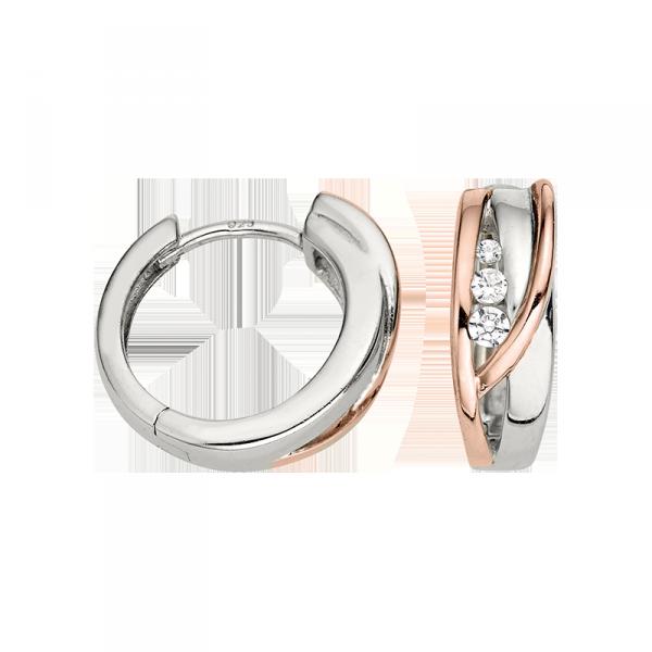 Creole in 925´er Sterling Silber mit der Farbe rosé und Silber
