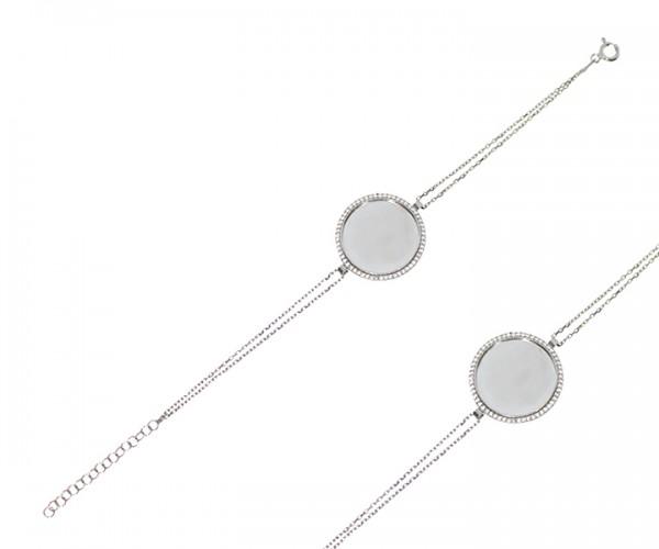 Damen Armband in 925´er Silber mit Anhänger