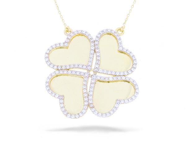 Gravur Halskette mit Herzen in 585er Gold