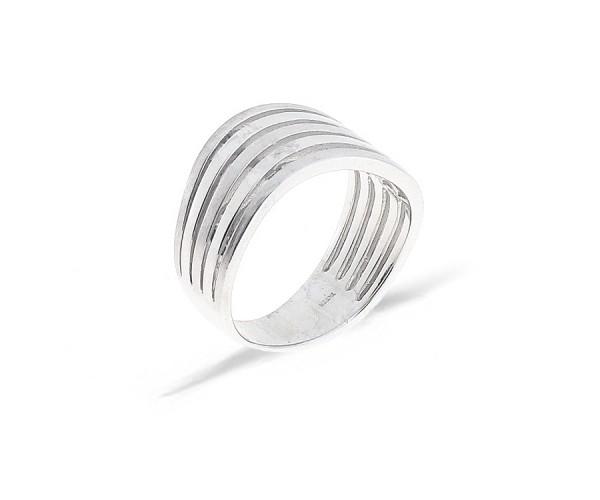 CEM Ring teilmattiert in 925er Sterlingsilber