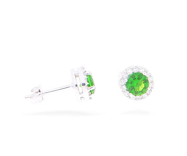 Ohrstecker mit grünem Stein 40133