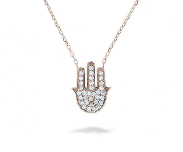 Halskette Hand der Fatima Rosé